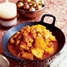 Chickpeas with winter vegetables and saffron