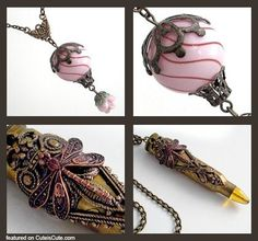 diy steampunk jewelry - Google Search...I like the hot air balloon for ear rings or a necklace. #costumejewelry
