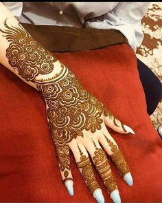 Henna Flower Designs, Henna Tattoo Designs Simple, Back Hand Mehndi Designs, Latest Bridal Mehndi Designs, Full Hand Mehndi Designs, Mehndi Designs 2018, Henna Art Designs, Wedding Mehndi Designs, Rajasthani Mehndi Designs