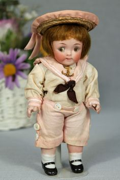 Buster Brown All Bisque Doll from a private collection. #DollShopsUnited