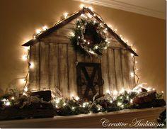 Christmas Barn Mantel
