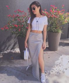 Find images and videos about girl, fashion and cute on We Heart It - the app to get lost in what you love. Style Casual, Casual Looks, Casual Outfits, Summer Outfits, Love Fashion, Girl Fashion, Fashion Dresses, Womens Fashion, Look Cool