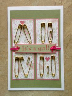 Baby shower card I made for a friend. Got the idea from wall art decor and adapted to a card. Wall art decor source can be found at http://www.whattoexpect.com/blogs/astudentatmamauniversity/homemade-nursery-decor-simple-whimsical-adorable#