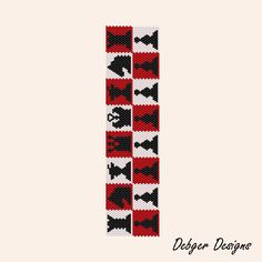 CHESS - Peyote Bracelet Cuff Pattern