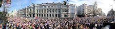 24 de abril de 2010: Impresionante panorámica de la manifestación que recorre el centro de Madrid.