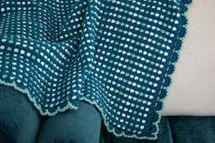 Felted Button: ::Dit Dah Blanket Crochet Pattern::