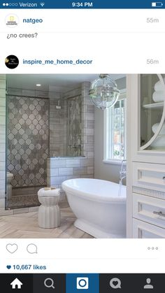 focal wall as you enter the shower stall