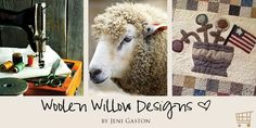 Woolen Willow designs featuring Primitive Patterns by Jeni Gaston.