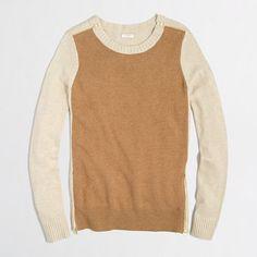 J.Crew Factory - Factory warmspun colorblock zip sweater