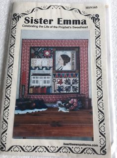 Sister Emma LDS Mormon Wall Quilt Sewing Pattern UC by Vntgfindz