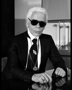 Karl Lagerfeld self-portrait. In 1983 Karl Lagerfeld is appointed Artistic Director for CHANEL Fashion, designer of all Haute Couture, Ready-to-Wear and Accessory collections.