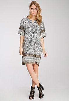 Abstract Print Tunic Dress |  - 2000114713