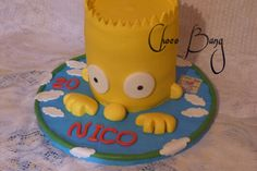 Cake Bart Simpson. By Choco Bang
