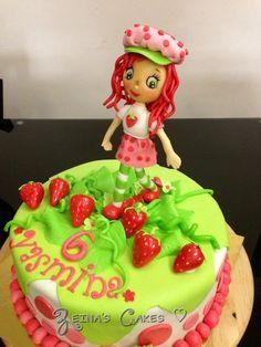 Strawberry Shortcake Cake ... Adorable Strawberry Shortcake Birthday, Clay Baby, Birthday Cakes, Biscuit, Purple, Pink, Baby Dolls, Polymer Clay, Desserts
