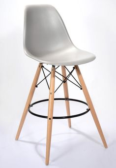 Cool Grey Eames Style Bar Stool From Danetti.