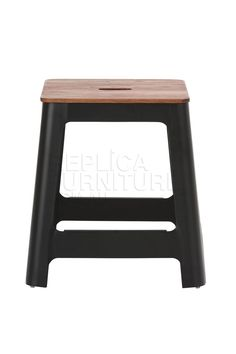 Square low stool is a handy addition to our Sean Dix range of replica furniture.   Made from steel with an antique walnut stain wooden seat, these durable and hardy stools are ideal for use around the dining table or for use in your funky cafe or restaurant