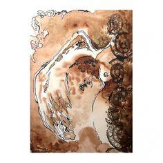 Anioł nieśmiały - grafika Waves, Artwork, Work Of Art, Auguste Rodin Artwork, Artworks, Ocean Waves, Illustrators, Beach Waves, Wave