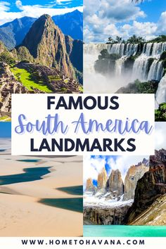 Famous Landmarks in South America Travel Around The World, Around The Worlds, Iguazu Falls, Easter Island, Famous Landmarks, South America Travel, Machu Picchu, Day Tours, Day Trip
