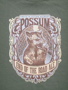 Phish Possum lot tee shirt - silkscreened original artwork - Trey, Grateful Dead, hippie, 420, lsd