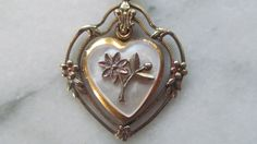 antique gold victorian heart locket by OnStoneAvenue on Etsy, $135.00