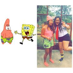 Spongebob and Patrick: Such unique DIY Halloween costumes to rock with your bestie this year.