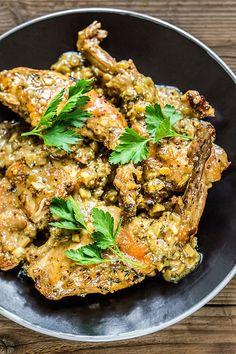 Voňavá kombinace tymiánu, hořčice a medu jemné králičí maso krásně pozdvihne; Tomáš Rubín