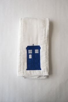 TARDIS embroidered burp cloth Etsy listing at https://www.etsy.com/listing/170511062/tardis-embroidered-burp-cloth-dr-who