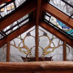 Cruelty-Free Antlers In This Stained Glass Cabin On Design*Sponge Stained Glass Panels, Stained Glass Patterns, Mosaic Glass, Glass Art, Beveled Glass, House Window Design, Glass Cabin, Art Village, Silver Ring Designs