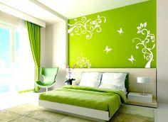 Floral Wall Decals contemporary bedroom - Qxmall.com - #Floralwalldecal #walldecals #walldecors #wallarts