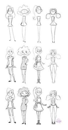 figure girls l dibujos de chicas l dessins de filles
