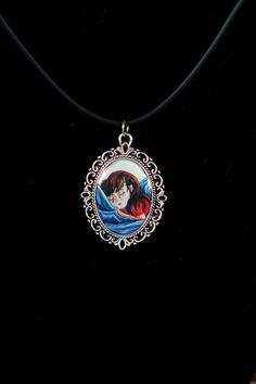 Ocean of Tears - vintage style art pendant necklace