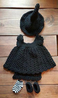 Wizard of Oz Witch Newborn Crochet Outfit by OverCrochetRainbow