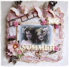 Vintage Card by LLC DT Member Tina Klix, using papers from Maja Design's Sofiero collection.