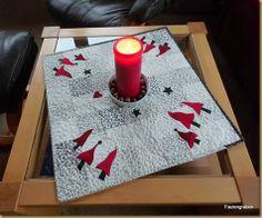 Tischdecke 53 x 53 cm Stoffe STOF A/S Vlies vom Stoffmarkt (no name) maschinengenäht und –gequiltet