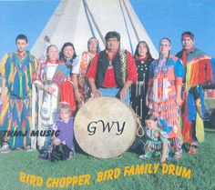 Host Drum - The home of Bird Chopper is Qualla Boundary. It's better know as the Cherokee Indian Reservation in North Carolina. Previously called Blue Earth (1975-1996) the drum was renamed in honor of Ric Bird's grandfather, Bird Chopper Bird.