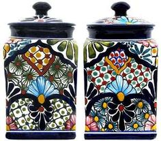 Mexican Pottery Canisters