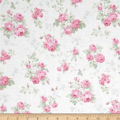 Tanya Whelan Slipper Roses Wild Roses White from @fabricdotcom  Designed by Tanya Whelan for Free Spirit, this cotton print is perfect for quilting, apparel and home decor accents.  Colors include white, shades of green and shades of pink.