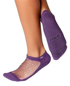 SHASHI STAR Cool Feet Grip Socks - Regular Toe - For Barre & Pilates... Also on Amazon... Also in Black sparkles