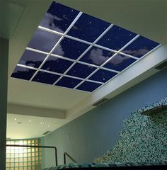 Xfit Wellness & Fitness Club of Genova, Italy installed a unique night sky Luminous SkyCeiling over the indoor whirlpool. The subdued lighting in combination with the realistic illusion of a starry sky makes for an especially relaxing dip after a workout.