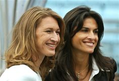 Steffi Graf and Gabriela Sabatini ~ Great champions!