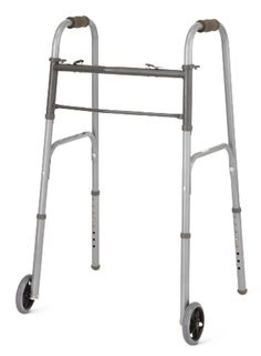 Walkers and Canes: Medline Two-Button Folding Walker W 5 Wheels, Mds86410w54b -> BUY IT NOW ONLY: $41.26 on eBay!
