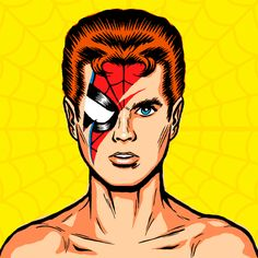Ziggy Stardust & the Spiders from Mars ... Spider-Man mash-up. Brilliance by Billy the Butcher, aka butcherbilly.