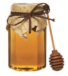 Honey jar with cloth cap