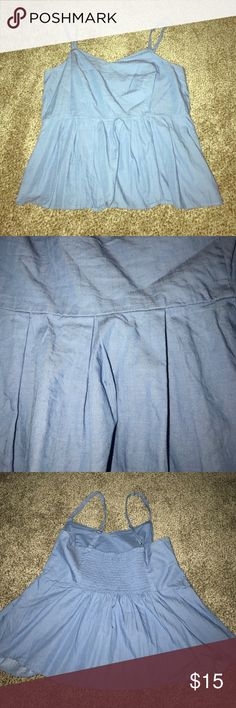 """Forever 21 Plus Light Blue Sweetheart Peplum Top Forever 21 Plus Light Blue Sweetheart Peplum Top. Size 1X. Stretchy Back. Adjustable straps. EUC. Like new. Measures approximately 20"""" across chest (unstretched) and 19"""" from neckline dip to hem. Forever 21 Tops"""