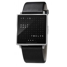 Time-in-words Watch http://stuffyoushouldhave.com/time-in-words-watch/