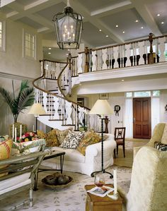 """My son is a Trim Carpenter, in new home construction.  He is known as """"The Stair Man.""""  He does all the beautiful gorgeous work in some amazing new homes.  I can't wait to show him this staircase.  It's beautiful."""
