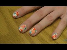 Spring Floral Nail Art Tutorial--doesn't really start until about 1:15