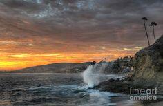 Laguna Beach Sunset Print by Eddie Yerkish
