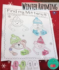 Winter Rhyming Activity  These cute animals are cold. Can you help them by matching the rhymes?  This is a part of a Winter Activities No Prep Printables for Kindergarten. There are more great resources in there.