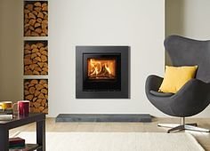 Elise Glass Wood Burning Inset Fires & Multi-fuel Inset Fires - Stovax